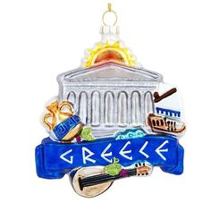 Greece Landmarks Glass Ornament from Bronner's Christmas store of Christmas ornaments and Christmas lights