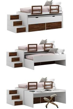ideas for living room sofa furniture small spaces - Kallax Bett Space Saving Beds, Space Saving Furniture, Furniture For Small Spaces, Small Rooms, Multifunctional Furniture Small Spaces, Kids Rooms, Living Room Sofa, Living Room Furniture, Home Furniture