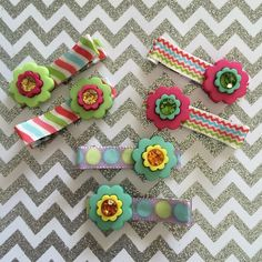 Spring Flowers Collection #flowerhairclippies #daintyhairaccessories