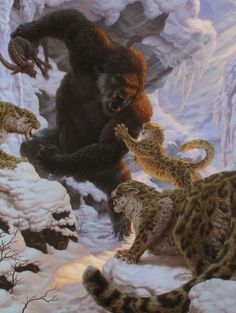 Some Very Creepy Paranormal Art Fantasy Creatures, Mythical Creatures, Arte Robot, Fantasy Beasts, Fantasy Monster, Prehistoric Creatures, Creature Concept, Wildlife Art, Bigfoot