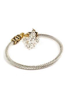 Fleur De Lis Bracelet on Emma Stine Limited Fashion Jewelry Necklaces, Jewelry Sets, Jewelery, Jewelry Accessories, Jewelry Bracelets, Estilo Glamour, Ysl, Givenchy, Dior