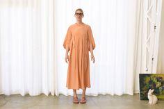 Soft Silk Crepe Dress, Apricot