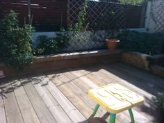 Sleeper beds and scaffold board decking by Culver&Holmen