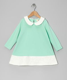 Mint & White Floral Peter Pan Tunic - Girls   Daily deals for moms, babies and kids