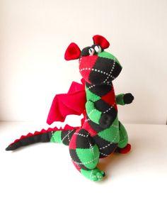 dragon plush fantasy animal plush monster by TreacherCreatures