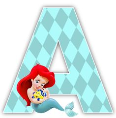 Baby Little Mermaid 1st Birthday Party Alphabet & Numbers so cute!!