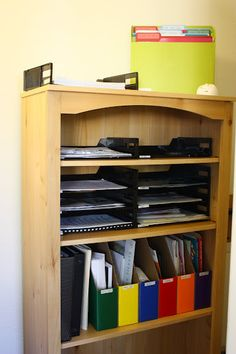 Ideas for organizing your home office---all the papers!