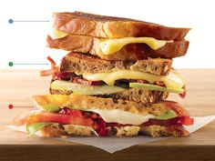 3 gourmet takes on the Grilled Cheese Sandwich; from GQ.
