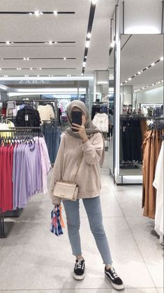 Source by isnaziladinka Outfits hijab Modern Hijab Fashion, Street Hijab Fashion, Hijab Fashion Inspiration, Muslim Fashion, Korean Fashion, Hijab Style, Casual Hijab Outfit, Ootd Hijab, Hijab Chic