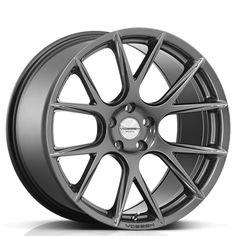 """20"""" Staggered Vossen Wheels CV4 Matte Graphite Rims"""