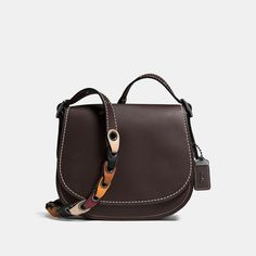 #Coach Stores Limited - #Coach Coach Saddle 23 In Glovetanned Leather With Colorblock Link Strap - AdoreWe.com