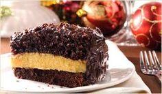 Chocolate Cake w/ Yema Filling