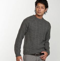 Ravelry: 210-211-56 Men's Sweater pattern by Pierrot (Gosyo Co., Ltd) - free pattern (note that they provide information on how to resize patterns as well as definitions/videos for stitches)