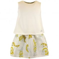 79b23e735 Young Versace girls white dress. #youngversace #dress #kids #girls Versace  Kids