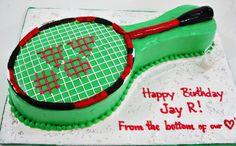 Badminton 1 Badminton, Themed Cakes, Tennis Racket, Goodies, Sporty, Sweet Like Candy, Treats, Theme Cakes, Cake Art