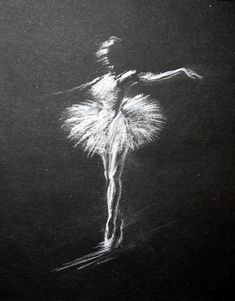 White pencil drawings on black paper. Soft Pastel Art, Chalk Pastel Art, Chalk Art, Oil Pastel Drawings, Chalk Drawings, Art Drawings, Pencil Drawings, Dancer Drawing, Ballet Drawings
