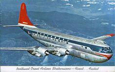 postcard - Northwest Orient Stratocruiser