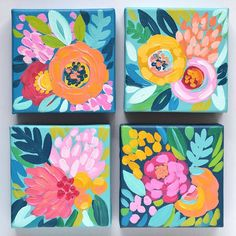 canvas art I painted up a bunch of these giftable little minis for my westelmsandiego pop up tomorrow. Come visit me to see the whole collection! There is something about tiny canvases that always gets me Flower Painting Canvas, Painting & Drawing, Art Floral, Mini Canvas Art, Guache, Mini Paintings, Floral Paintings, Abstract Flowers, Abstract Art