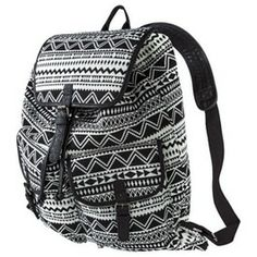 Mossimo Supply Co. Drawstring Backpack Handbag - Black/White target
