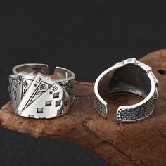 Men's Sterling Silver Straight Flush Ring - Jewelry1000.com