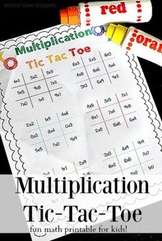 Add in some learning to the classic game of Tic Tac Toe with our Multiplication Tic Tac Toe Printable!