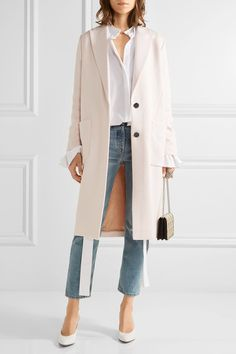 Pastel-pink stretch-twill Concealed button fastenings through front 69% triacetate, 29% ramie, 2% elastane; lining: 100% viscose Dry clean Designer color: Sweetness