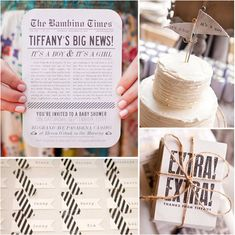 A Vintage Newsprint Shower | 25 Of The Best Baby Shower Themes Ever