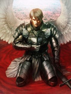 angel by kei & (A World of Fantasy) Angels Among Us, Angels And Demons, Fantasy Male, Fantasy Warrior, Character Inspiration, Character Art, Male Angels, Angel Artwork, Angel Man
