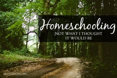 #Homeschooling, Not What I Thought It Would Be | #HSLDABlog