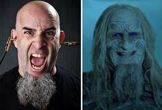 ANTHRAX gitaristi Scott Ian, GAME OF THRONES'da Ak Yürüyen oldu! #anthrax #scottian #gameofthrones