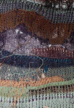 knitting, not weaving, but it inspires nonetheless __ Rumina Khatun LCF 2012 detail Knitting Kits, Knitting Designs, Knitting Yarn, Knitting Patterns, Textile Fiber Art, Textile Artists, Knit Art, Textiles Techniques, Weaving Textiles