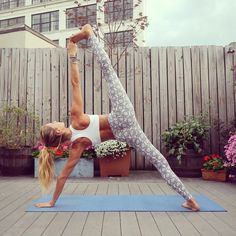backyard yoga session