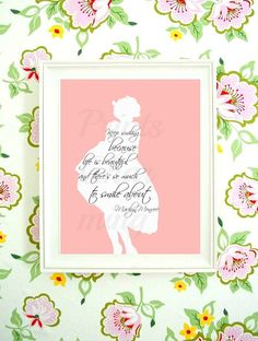 Marilyn Monroe Quote Life is Beautiful Keep by PrinsCharming, $3.99