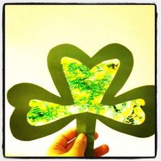 Easy DIY Shamrock Suncatcher