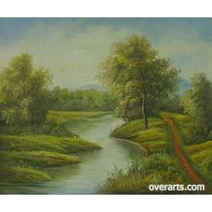 I Love Green. Oil Painting for sale on overArts.com. I would love some kind of scenery like this painted all over my house!!!!