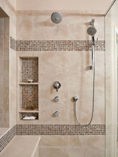 Nice Awesome Shower Tile Ideas Make Perfect Bathroom Designs Always : Beautiful Shower Tile Ideas Glass Cover Shower Metalic Shower by facunda  The post  Awesome Shower Tile Ideas Make Perfe ..
