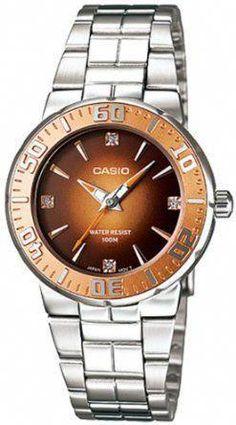 0019b99d8b6 Casio Ladies Analog Watch Ltd-2000d-5avdf Diver Look Design Rhinestone  Stainless Steel Limited