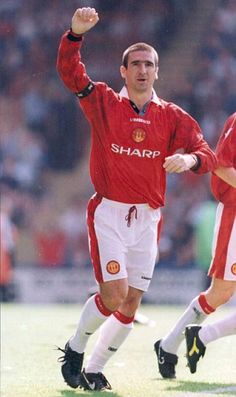 Former Manchester United striker Eric Cantona Manchester United Images, Manchester United Legends, Manchester United Football, Jimmy Greaves, Bryan Robson, Eric Cantona, The Sporting Life, Premier League Champions, Tennis
