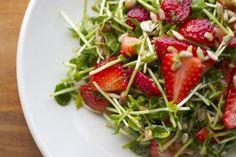 Strawberry & Pea Shoot Salad — 45 Healthy Berry Recipes