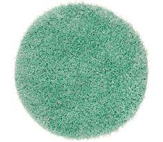Shaggy szőnyeg: mentazöld, 30% PES, 70% polipropilén, kerek, Átm: kb. 67 cm