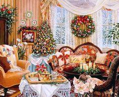 Artist Susan Rios Christmas Paintings