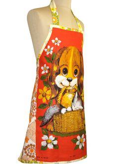 Metro Retro Vintage Dog Kitty Cat Flowers by MerryGoRoundHANDMADE, $42.95