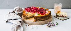Raparperijuustokakku | Makeat leivonnaiset | Reseptit – K-Ruoka Kfc Original Recipe, Cheesecakes, Yummy Drinks, Sweet Tooth, Chicken Recipes, Dishes, Baking, Fruit, Desserts