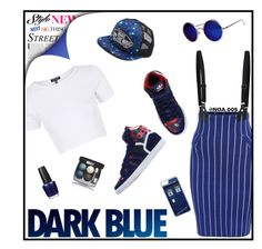 """""""DARK BLUE"""" by noa005 ❤ liked on Polyvore featuring Topshop, adidas Originals, Una-Home, Vans, CellPowerCases, OPI and Chanel"""