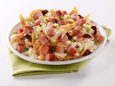 This recipe brings everyone together! Pasta fans and nacho fans. SPAM® with Bacon fans and SPAM® Oven Roasted Turkey fans. Sun dried red tomato fans and green onion fans. World peace must be just around the corner.