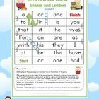 FREE Fry's First 100 Words Snakes and Ladders Games x 6 - PDF file6 pages designed by Clever Classroom.These six, fun snakes and ladders games ...