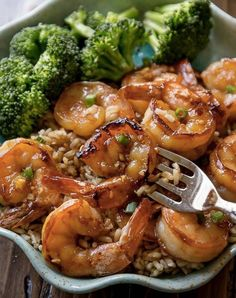 honey garlic shrimp.