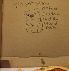What happens when you give special instructions with your pizza order asking for a cute koala to be drawn in an employees blood on the box.