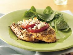 Feta-Topped Chicken, made this for dinner, easy and EXCELLENT!! I used pesto instead of italian seasonings and canned, italian seasoned diced tomatoes, big hit!!