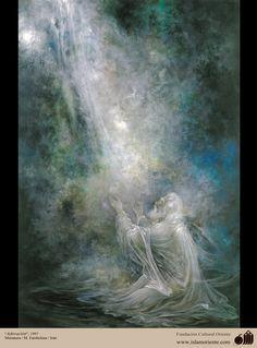 Adoración- Pintura Persa- Farshchian | Galería de Arte Islámico y Fotografía